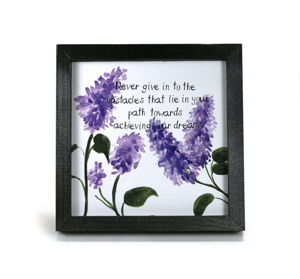 Never Give In - Motivational Print - Office Print and Frame