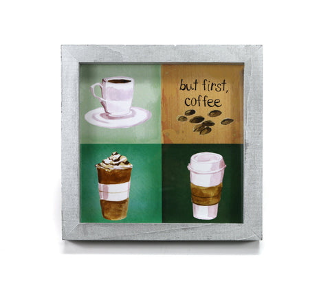 But First, Coffee - Motivational Print - Office Print and Frame