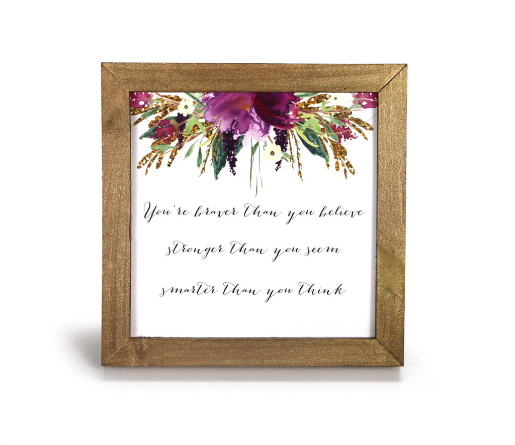 braver stronger smarter motivational print office print and frame