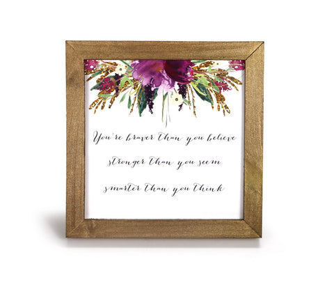Braver, Stronger, Smarter - Motivational Print - Office Print and Frame