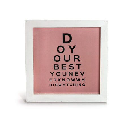 Do Your Best in Pink- Motivational Quote - Office Print and Frame