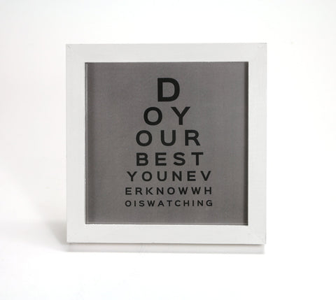 Do Your Best in Gray - Motivational Quote - Office Print and Frame