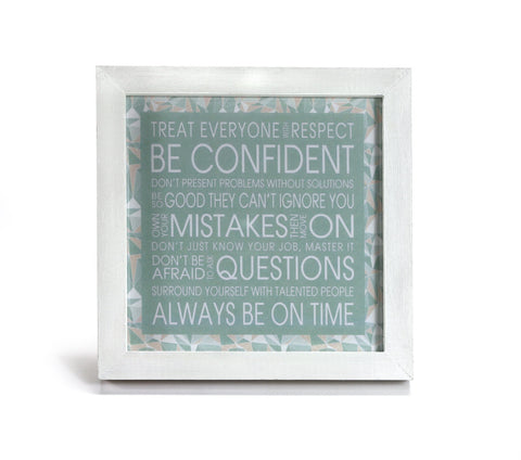 Good Advice in Mint - Inspriational Quote - Office Print and Frame