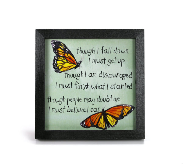 Monarch Butterfly - Inspriational Quote - Office Print and Frame