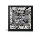 Life is Very Short.  Insecurity is a Waste of Time - DVF Quote - Office Print and Frame