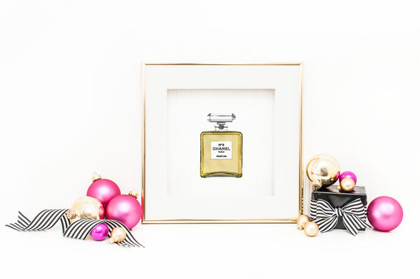Holiday Special- 4x4 Chanel No. 5 Office Print and Frame