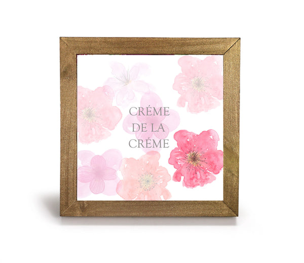 Creme de la creme - Office print and frame