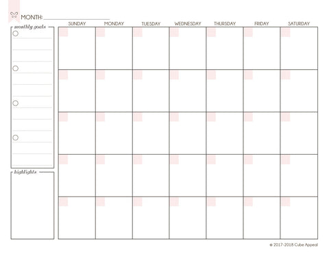 Monthly Planning Page - Free Digital Download
