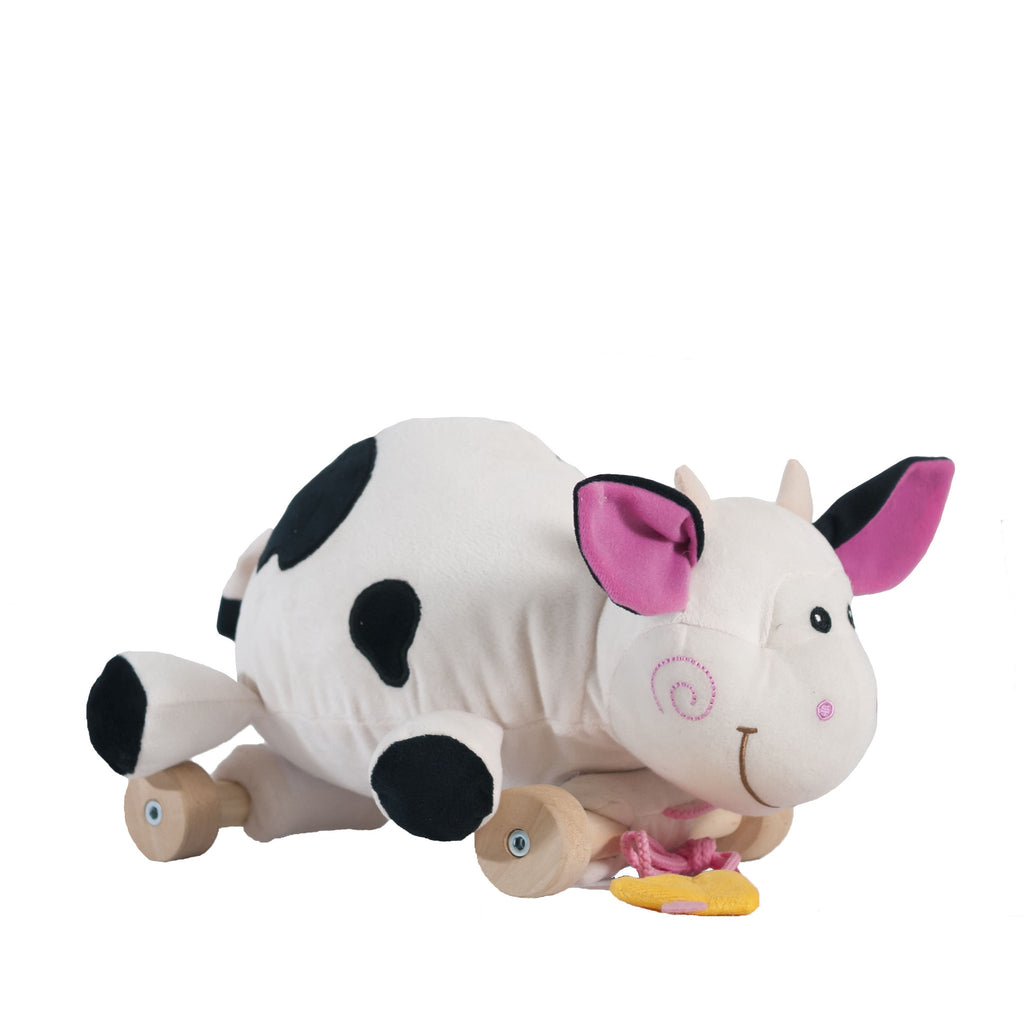 Cow on the wheels /  Vache sur les roues (25 cm)