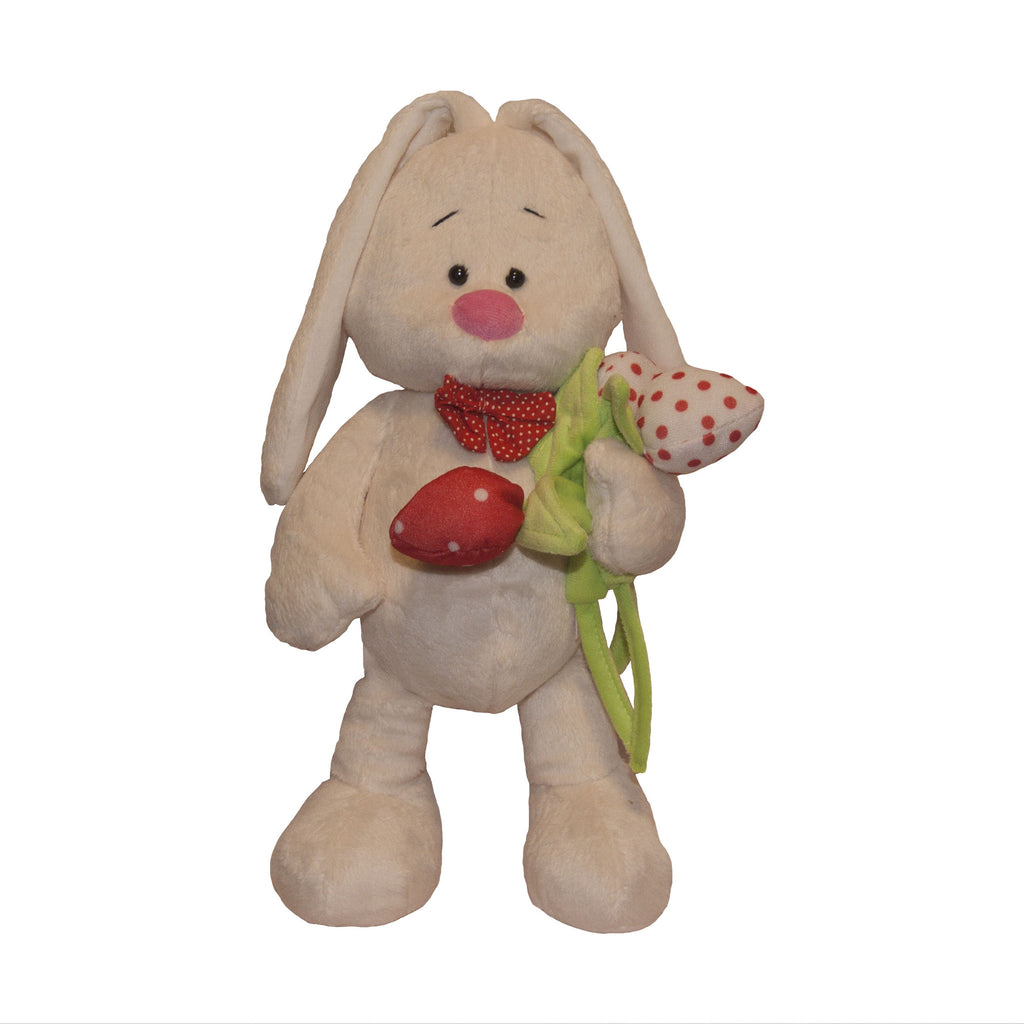 Bunny avec les tupiles / Bunny with tulips (35 cm)