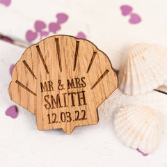 Nautical Themed (Seashell) Wedding Favours / Table Decorations (wooden)