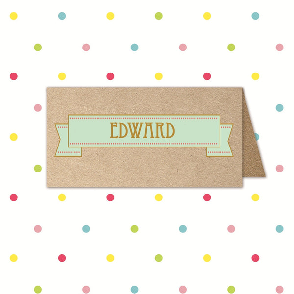 Banner of Love- Place Name - Place Card - Forever Lasting Invites - About to be Hitched