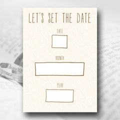 Let's Set The Date – Marriage Proposal Card - Marriage Proposal Stationery - About to be Hitched - About to be Hitched