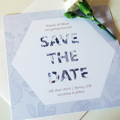 Grey Blossom Save The Dates - Save The Date - Tamsin Yates Wedding Stationery - About to be Hitched