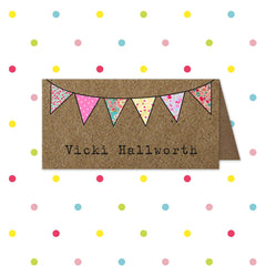 Beautiful Bunting - Place name - Place Card - Forever Lasting Invites - About to be Hitched