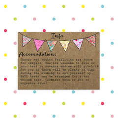 Beautiful Bunting - Additional Info - Other Wedding Stationery - Forever Lasting Invites - About to be Hitched