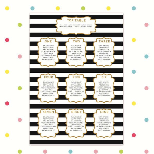 Simple Love - Table Plan - Table Plan - Forever Lasting Invites - About to be Hitched