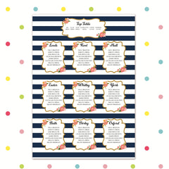 Sail Away With Me - Table Plan - Table Plan - Forever Lasting Invites - About to be Hitched
