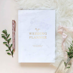 Luxury Marble Wedding Planner Book