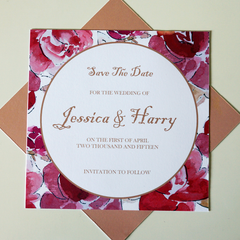 Velvet Rose Save The Dates - Save The Date - Tamsin Yates Wedding Stationery - About to be Hitched