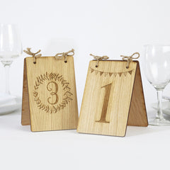Free Standing Wooden Table Numbers (two design options)