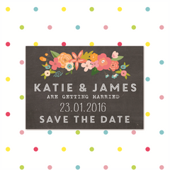 Chalk & Cheese - Magnetic Save the Date - Save The Date - Forever Lasting Invites - About to be Hitched