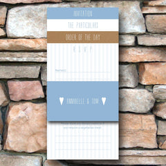 And then I met you (Airy Blue) - Wedding Invitation Pack (Day)