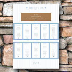 And then I met you (Airy Blue) - Table Plan