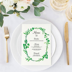 'Tuscan Sun' Menu Card