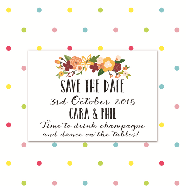 I'm Falling for You - Save the Date - Save The Date - Forever Lasting Invites - About to be Hitched