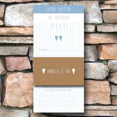 And then I met you (Airy Blue) - Wedding Invitation Pack (Evening)