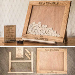 Wooden Dropbox Wedding Guestbook (Landscape)