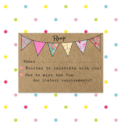Beautiful Bunting - RSVP - RSVP's - Forever Lasting Invites - About to be Hitched