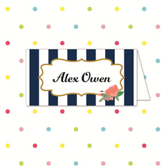 Sail Away With Me - Place Name - Place Card - Forever Lasting Invites - About to be Hitched