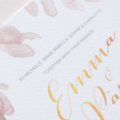 Guest names printed on invitations - 'Tuscan Sun' Collection