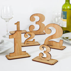 Custom Cut Wooden Table Numbers