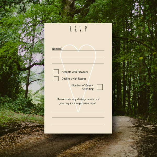 RSVP - Rustic Wedding Stationery - And Then I Met You