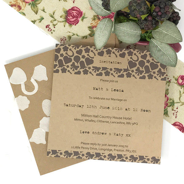 I Thee Wed - Day Invite