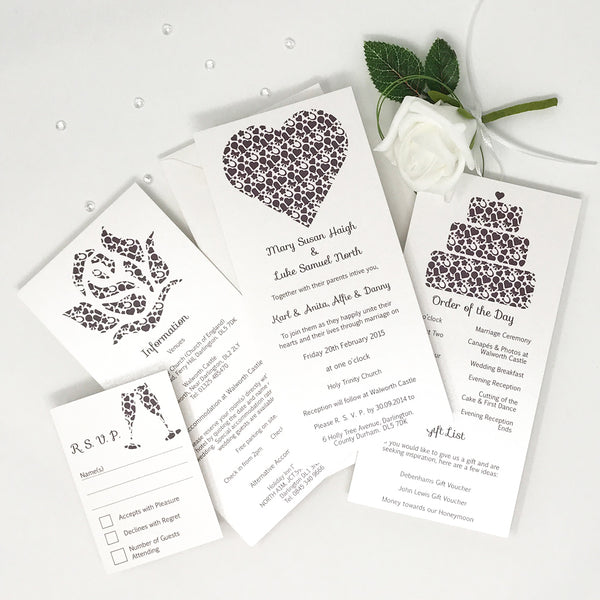 You Complete Me - Wedding Invitation (Day Invite)