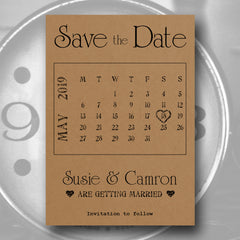 Save the Date Madness - Rustic Calendar Save the Date