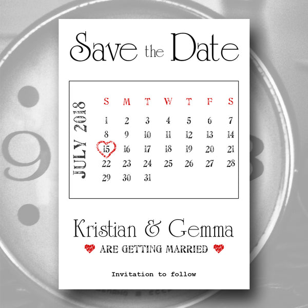 Save the Date Madness - Magnetic Calendar Save the Date