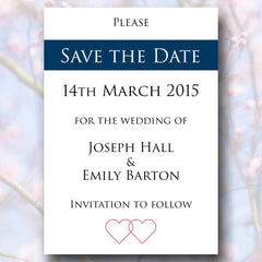 Two Hearts One Promise - Magnetic Save The Date Card - Save The Date - About to be Hitched - About to be Hitched