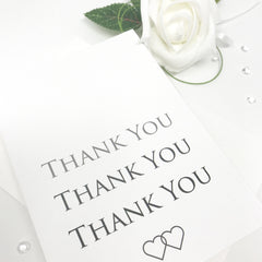 Two Hearts, One Promise (Slate Range) - Thank You Card