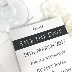 Two Hearts One Promise (Slate Range) - Magnetic Save The Date Card