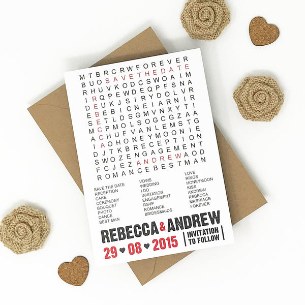 Save the Date Madness - Magnetic Word Search Save the Date