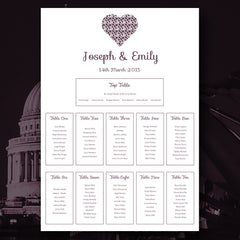 You Complete Me - Table Plan - Table Plan - About to be Hitched - About to be Hitched