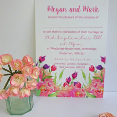 Pink Rose and Peony - Wedding Invitation - Claryce Design - About to be Hitched