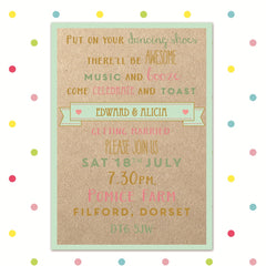 Banner of Love - Evening Invite - Wedding Invitation - Forever Lasting Invites - About to be Hitched