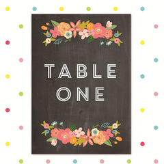 Chalk and Cheese - Table Number - Table Name / Number - Forever Lasting Invites - About to be Hitched
