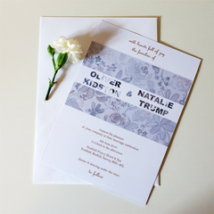 Grey Blossom Wedding Invitations - Wedding Invitation - Tamsin Yates Wedding Stationery - About to be Hitched